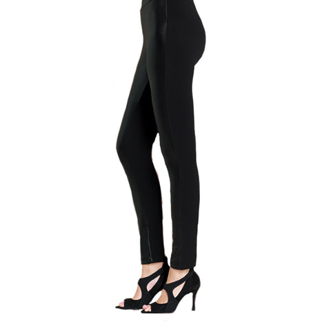 Clara Sunwoo Liquid Leather Front Legging in Black - LG412