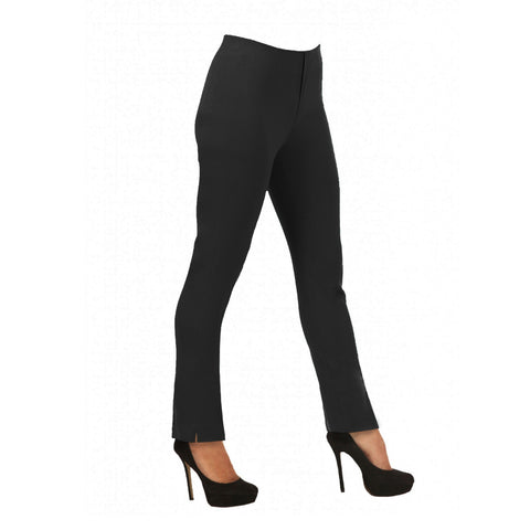 "Lior Paris ""Lize"" Straight Leg Pull-On Pant in Black - LIZE-BLK"