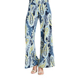 Clara Sunwoo Paisley Print Palazzo Pant in Navy/Multi - LPTP6 - Sizes XS & M Only
