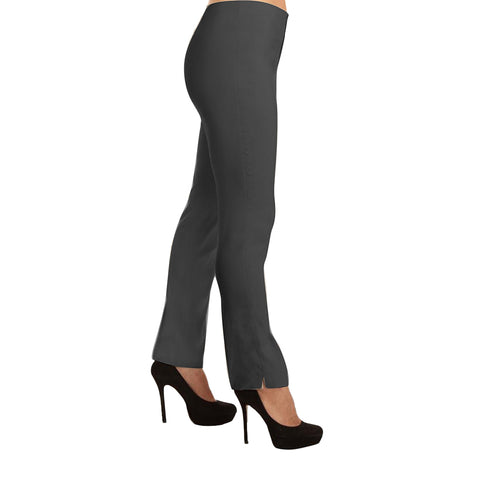 "Lior Paris ""Lize"" 29.5in Straight Leg Pull-On Pant in Charcoal"
