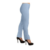 "Lior Paris ""Lize"" Straight Leg Pull-On Pant in Chambray - LIZE-CHAM"