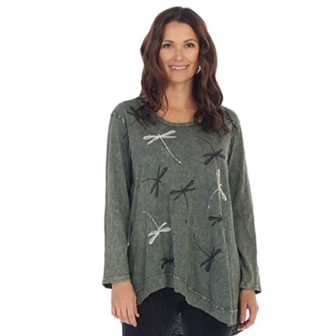 "Jess & Jane ""Philharmonic "" Mineral Washed Cotton Rib Tunic - M18-1166"