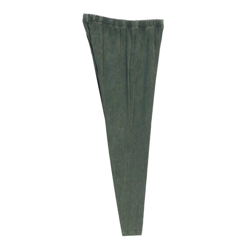 Jess & Jane Mineral Washed Cotton Legging Pants -M31-OLV