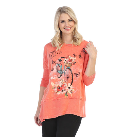 "Jess & Jane ""Maybe"" Mineral Washed Cotton Tunic Top - M41-1312"