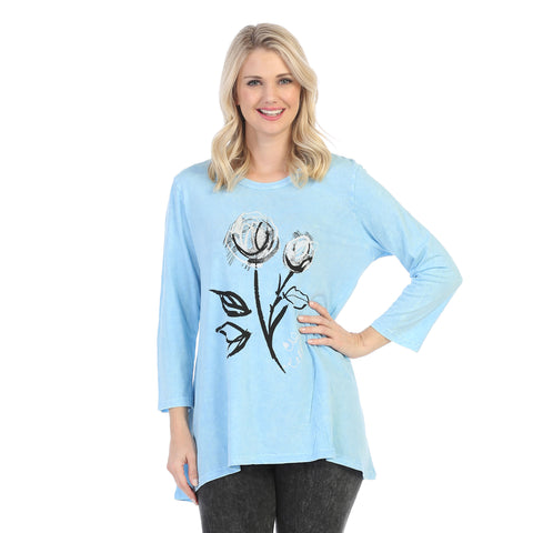 "Jess & Jane ""Duet"" Mineral Washed Cotton Tunic - M46-1222"