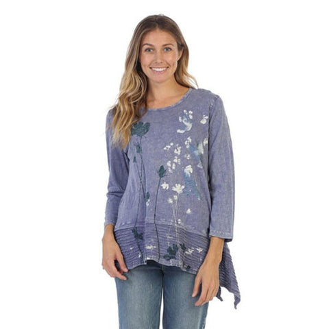 "Jess & Jane ""Free Fly"" Abstract Print Mineral Washed Tunic - M54-1260"