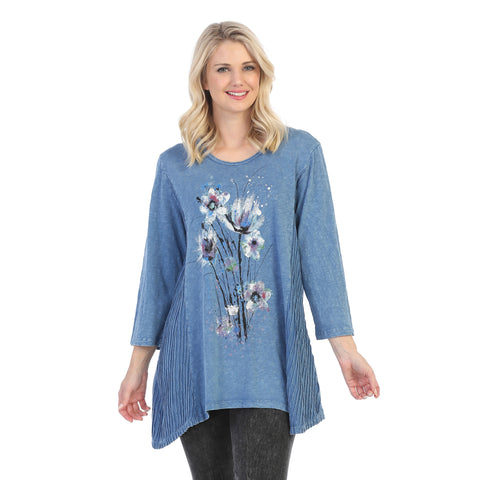 "Jess & Jane ""Felicity"" Abstract Print Mineral Washed Tunic - M55-1452"