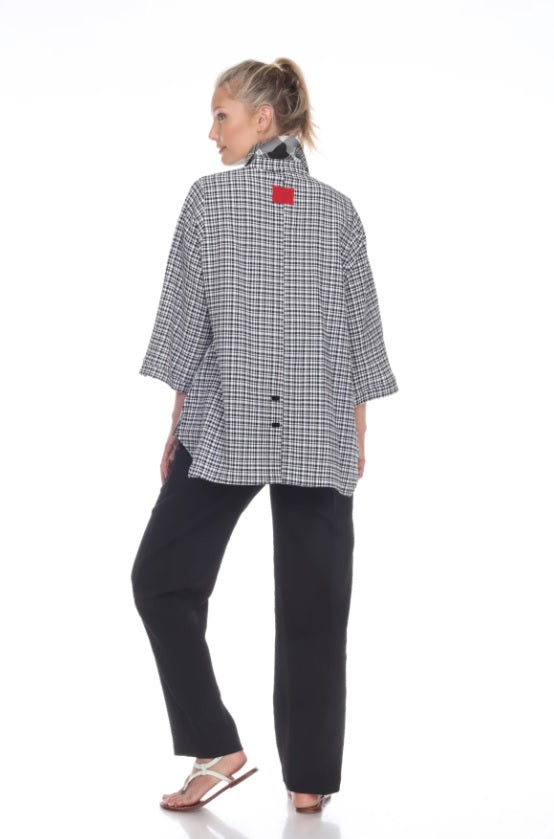 Moonlight Check-Print Button Front Shirt/Jacket - 2805
