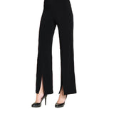Clara Sunwoo Kick Front Soft Knit Pants in Black - PT24