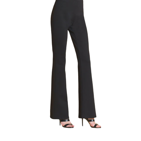 Clara Sunwoo Ponte Boot-Cut Pant in Black - PT25-BLK