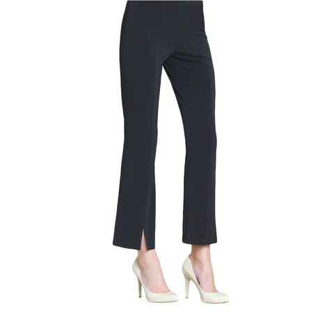 Clara Sunwoo Center Seam Kick Front Ankle Pant - Black PT4-BK