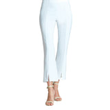 Clara Sunwoo Center Seam Kick Front Ankle Pant in White - PT4-WHT