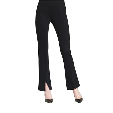Clara Sunwoo Techno Stretch Center Seam Kick Front Pant in Black - PT4B-BLK
