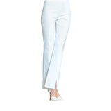 Clara Sunwoo Techno Stretch Center Seam Kick Front Pant in White - PT4B-WHT