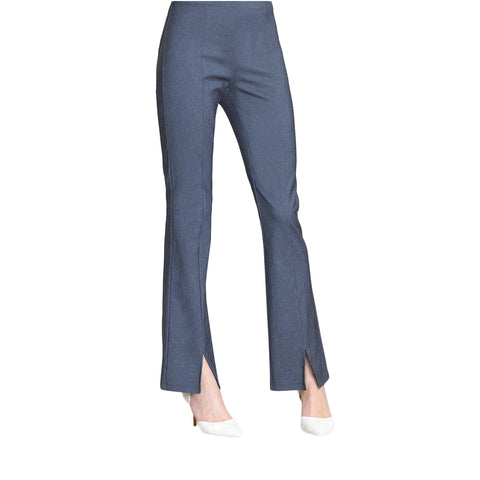 Clara Sunwoo Techno Stretch Center Seam Kick Front Pant in - Blue Denim - PT4D