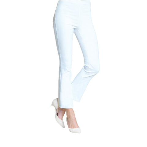 Clara Sunwoo Techno Stretch Ankle Pant - White - PT6B-WHT