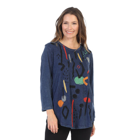 "Jess & Jane ""Surprise"" Mineral Washed Cotton Tunic - M28-1411"