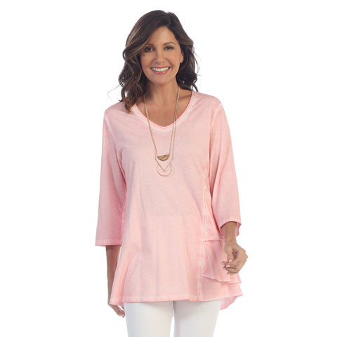 Focus V Neck Tunic in Pink SC121-PK