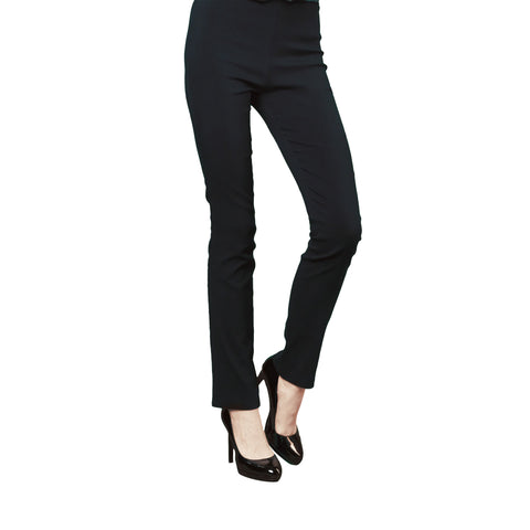 Clara Sunwoo Straight-Leg Stretch Pant in Black - SKPT-BLK