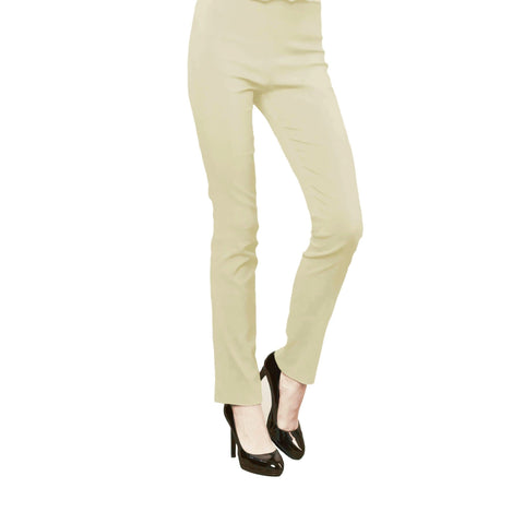 Clara Sunwoo Straight-Leg Stretch Pant in Khaki - SKPT-KK