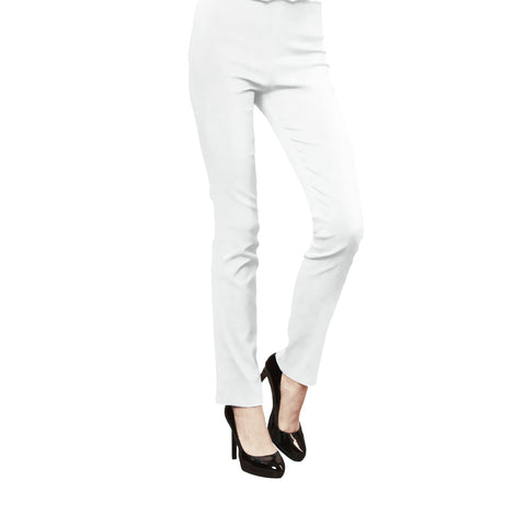 Clara Sunwoo Straight-Leg Stretch Pant in White - SKPT-WHT
