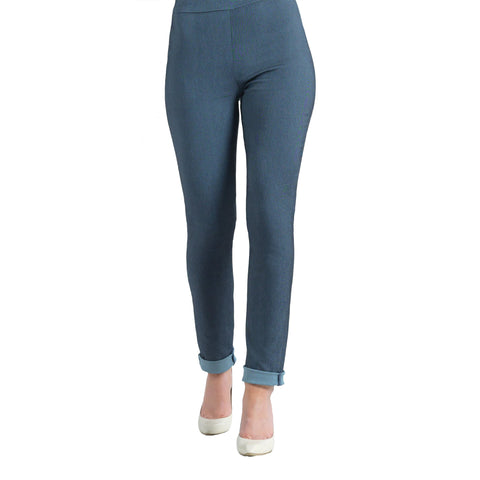 Clara Sunwoo Techno Stretch Straight Leg Pant - Blue Denim - SKPTD