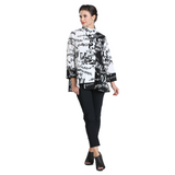 IC Collection Two-Tone Power of Words Asymmetric Jacket - 2359J