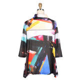 Damee Abstract Print Cowl Neck Tunic in Multi - 9175-MLT