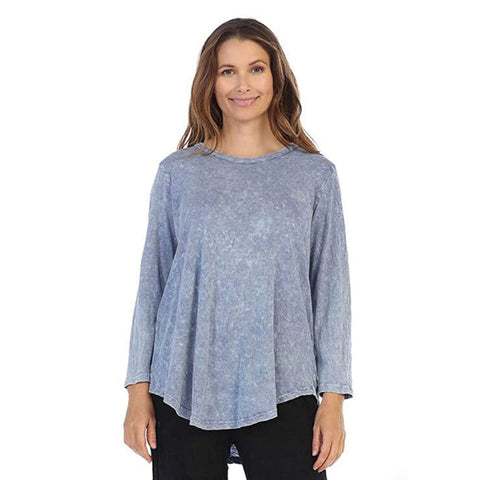 Jess & Jane Mineral Washed Tunic Top in Vintage Blue - M28-VTB