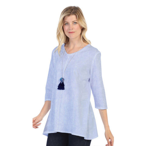 Focus Fashion Lightweight Knit Tunic Top in Blue - SC-115-BLU