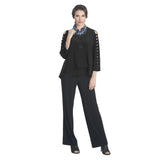 IC Collection Bow Sleeve Jacket in Black - 1083J-BK