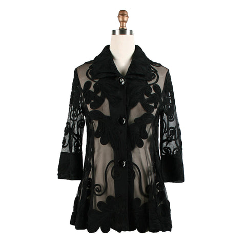 Damee Dressy Designer Jacket in Black  2132-BK