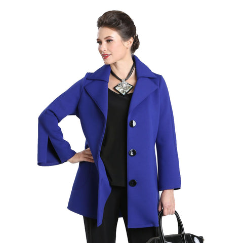 IC Collection Button Front Jacket in Blue - 3304J-BLU