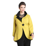 IC Collection Cutaway Contrast Trim Jacket in Mustard/Black - 1529J-MST - Sizes S-L Only