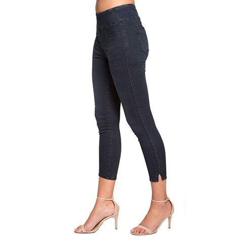 "Lior Paris Power Stretch ""Joy"" Skinny Crop Jean in Dark Blue - Joy-DB"