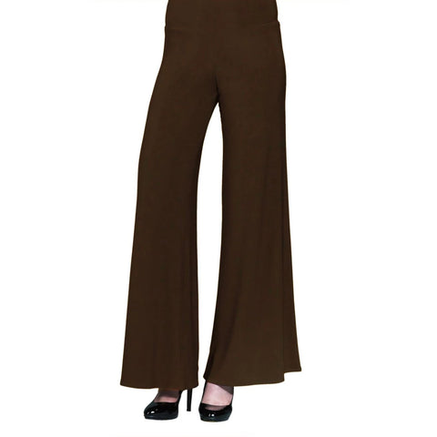Clara Sunwoo Soft Stretch Knit Palazzo Pant in Brown - LPT-BRN