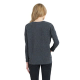 Clara Sunwoo Ribbed Sweater Knit Top in Grey - T56W-GRY - Sizes XS & 1X