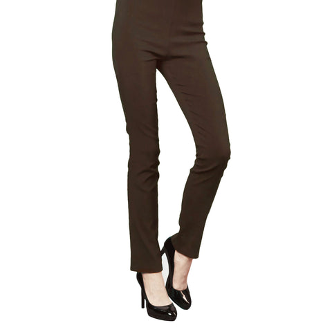 Clara Sunwoo Straight-Leg Techno Stretch Pant in Brown - SKPT-BRN