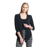 Clara Sunwoo Soft Knit Tie Front Cardigan in Black - CA21-BLK