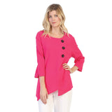 Focus Textured Point Hem Tunic in Fuchsia - CG-102-FUS