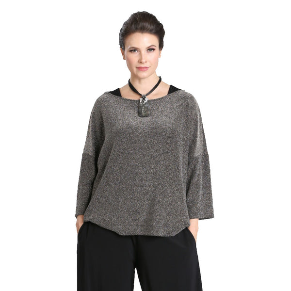 IC Collection Shimmer Top- 3335T - Size XXL Only