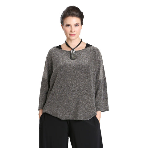 IC Collection Shimmer Tunic Top- 3335T - Size XL & XXL Only