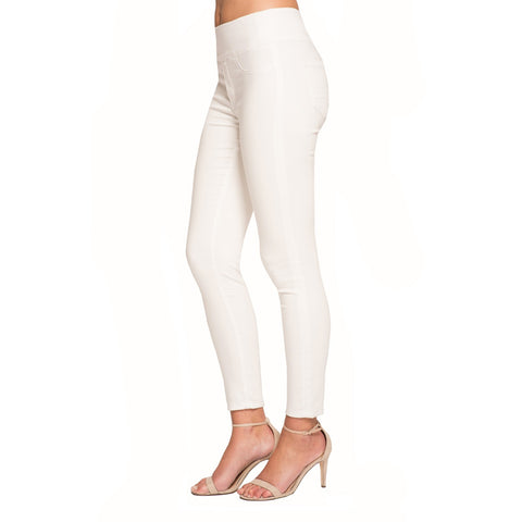 "Lior Paris ""Jane"" - Skinny Leg Jeans with Back Pockets in White Denim - JANE-WTDN"