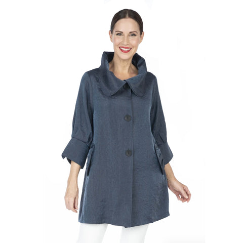 Damee Solid Swing Jacket in Pewter - 200 -PWR