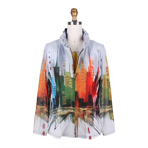 Damee City Scene Jacket w/Matching Shell in Multi- 31388-MLT