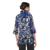IC Collection Geo Sheer Mesh Jacket in Blue/Multi - 2335J - Size S Only