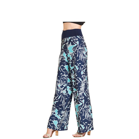 Clara Sunwoo Abstract Print Palazzo Pant in Turquoise - PT27-TURQ