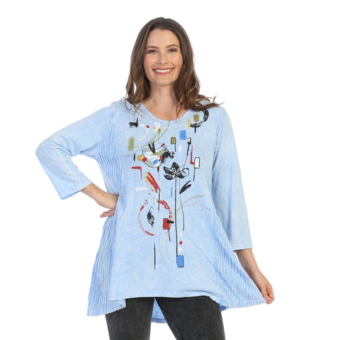 "Jess & Jane ""Chicas"" Abstract Print Mineral Washed Tunic - M55-1502"