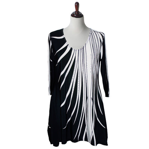 Valentina Signa Tunic in Black and White - 7869