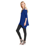 Clara Sunwoo Signature Cold Shoulder Tunic in Cobalt - T101-COB